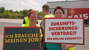 Solidaritätsaktion bei Kaiser's Tengelmann in Bayern, 17.06.2015