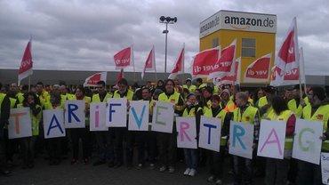 Bild vom Amazon-Streik