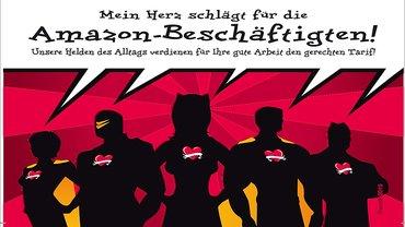 """Soli-Postkarte Amazon: Motiv """"Helden"""""""