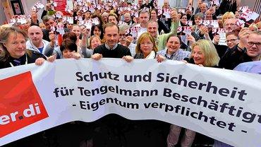 Solidaritätsaktion für die Beschäftigten von Kaiser's Tengelmann
