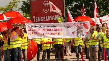 Protest bei Kaiser's Tengelmann