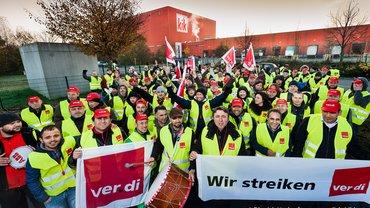 Streik im KiK Zentrallager Bönen