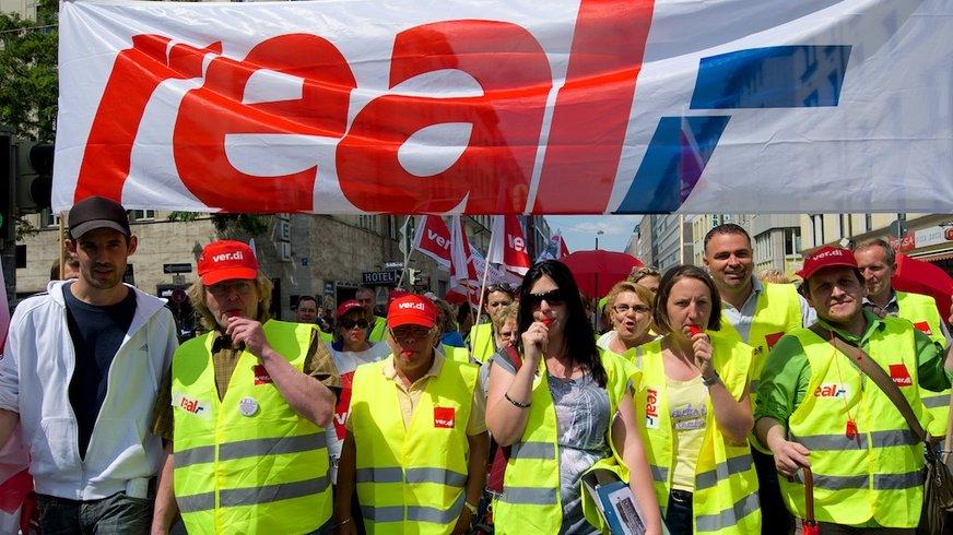Streik bei real