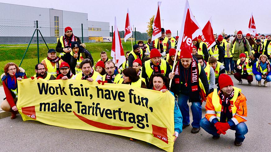 Streik bei Amazon in Graben (2014)