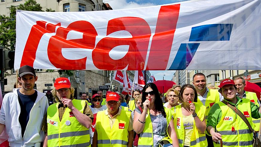 Streik bei real,- in Bayern (2013)