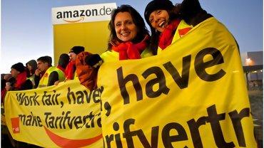 Amazon-Beschäftigte kämpfen für den Tarifvertrag