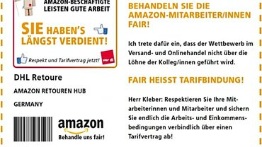 Amazon Retouren-AufKLEBER (Soli-Aktion)