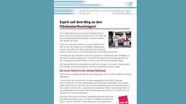 Flugblatt Esprit Manteltarif