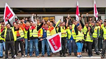 Handelsbeschäftigte im Streik
