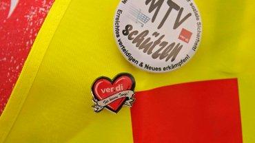 Button MTV Schützen an Warnweste