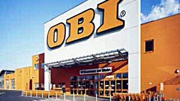 Eingangsbereich einer OBI-Filiale