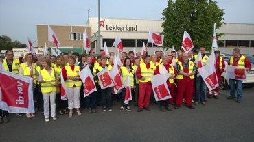 Streik bei Lekkerland 11.05.2015