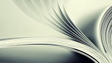 Aufgeschlagene Seiten einer Broschüre