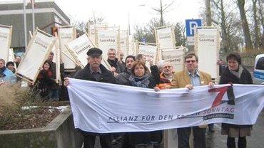 Ruhe-Mob auf der 4. Zeitkonferenz in Fulda