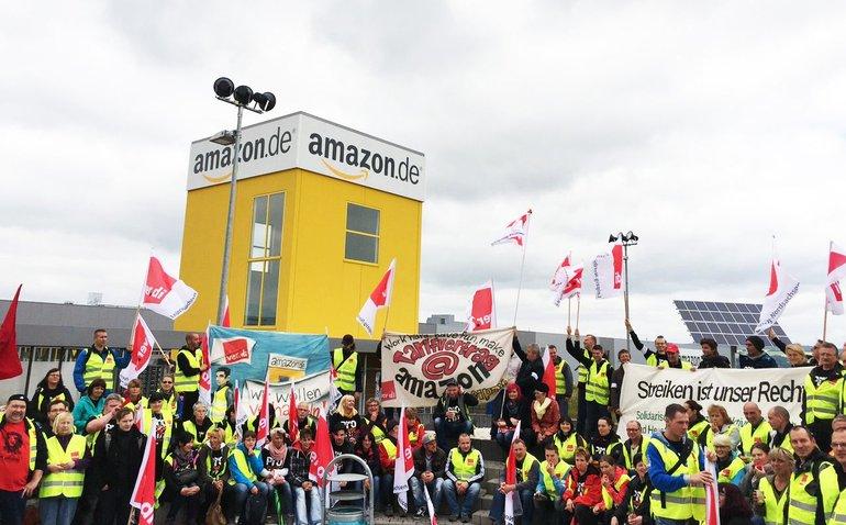 Große Streikkundgebung bei Amazon in Bad Hersfeld, 24.06.2015