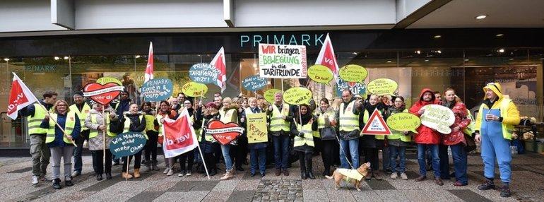 Aktion bei Primark Hannover am 22.10.2015