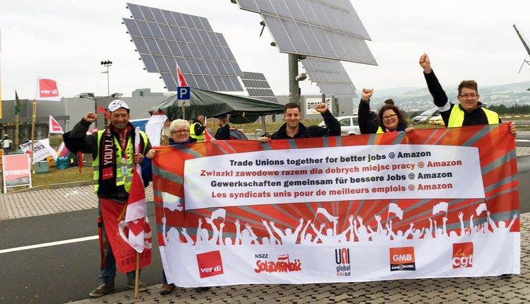 Internationale Solidarität für die Amazon-Beschäftigten