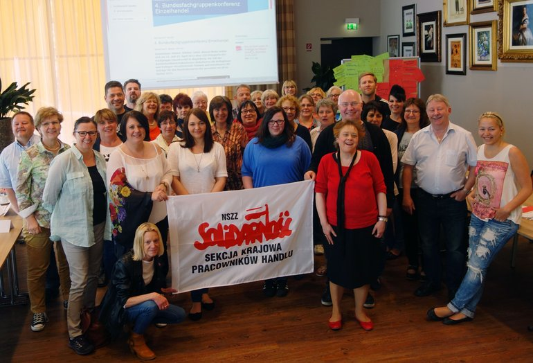 ver.di Handel auf der UNI-Handelskonferenz am Geburtsort der polnischen Gewerkschaftsbewegung