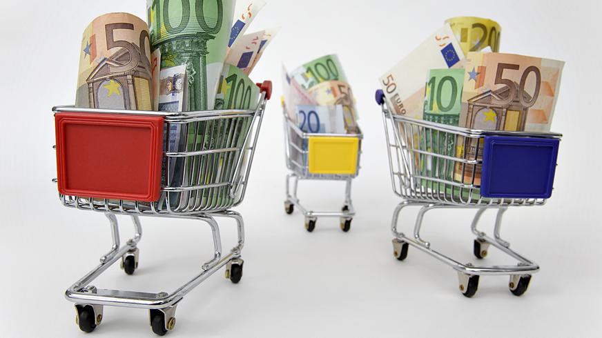 Tarifvertrag Handel Einzelhandel Einkaufswagen Lohn Geld