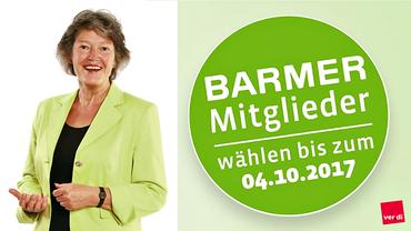 Ulrike Hauffe, ver.di-Spitzenkandidatin bei der BARMER Sozialwahl 2017