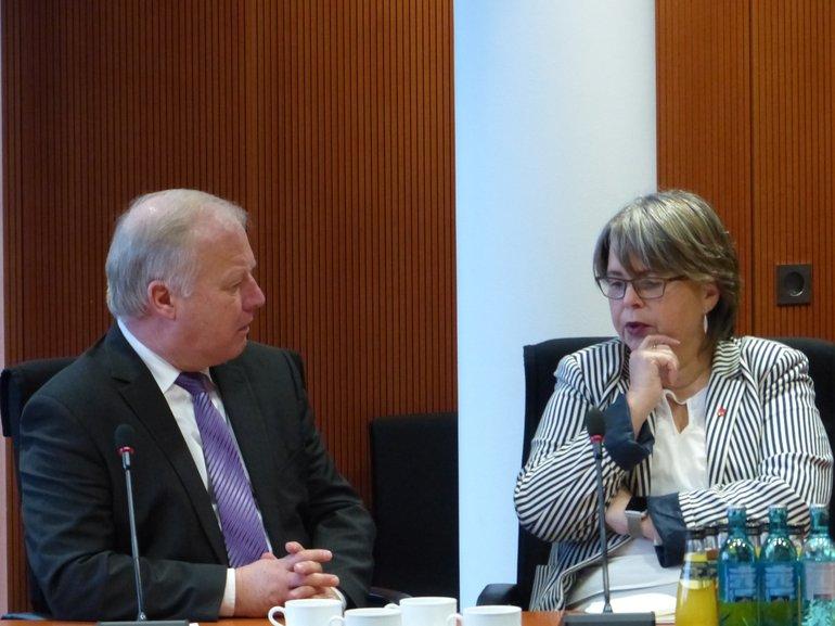 Stefanie Nutzenberger bei der Unionsfraktion