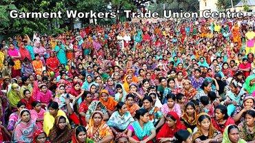Gruppenfoto der GWTUC-Gewerkschaft der Textilarbeiterinnen in Bangladesch