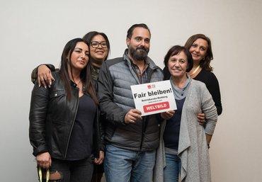 Solidarität ist unsere Stärke: Unterstützung für den Betriebsratsvorsitzenden der Buchhandelskette Weltbild