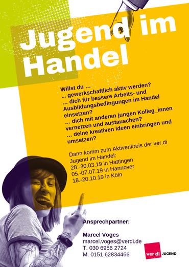 Flyer Aktivenkreis Jugend im Handel 2019