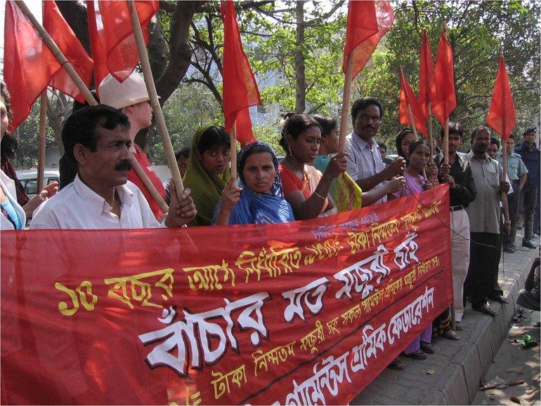 Textilbeschäftigte kämpfen für ihre Rechte