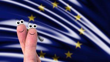 Europa Fahne Finger