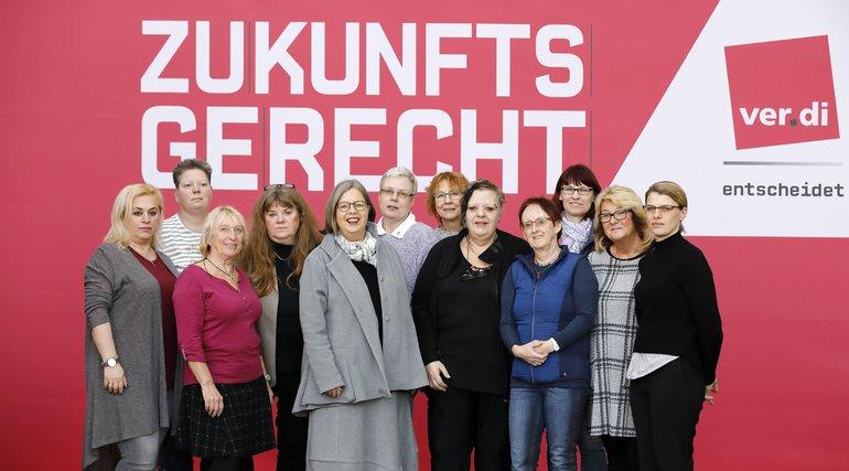 Bundesfachbereichsfrauenvorstand Handel 2019 mit Stefanie N.