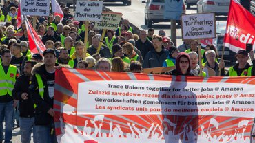 Streiks bei Amazon in Bad Hersfeld am 16. April 2019