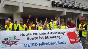 Streik der Beschäftigten im fränkischen Großhandel (06.06.19) BÜHNE