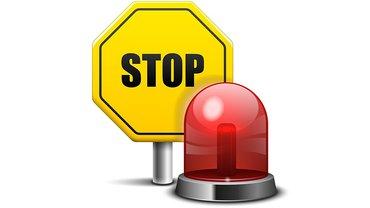 Alarm Signal Stop Warnung Schild Hinweis