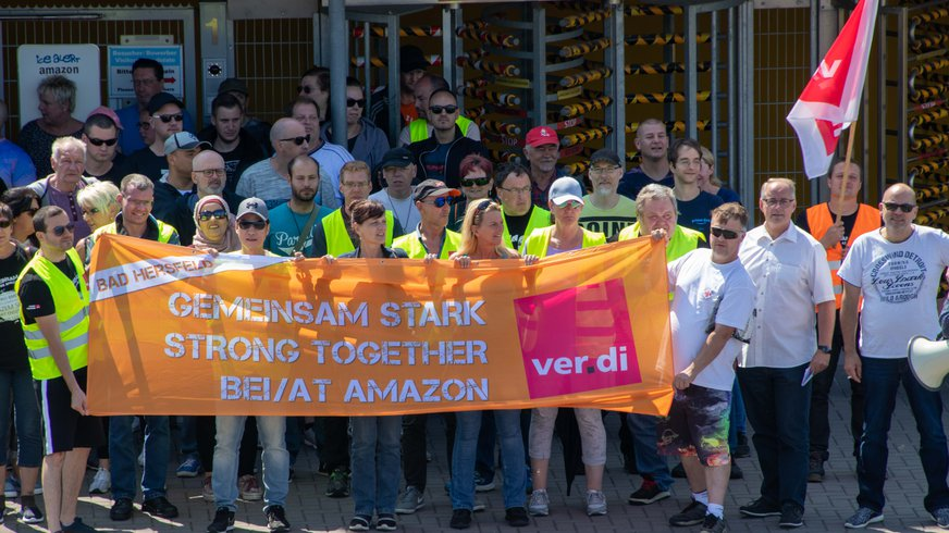 Streiks zum Prime-Day bei Amazon in Bad Hersfeld (17.07.2019)