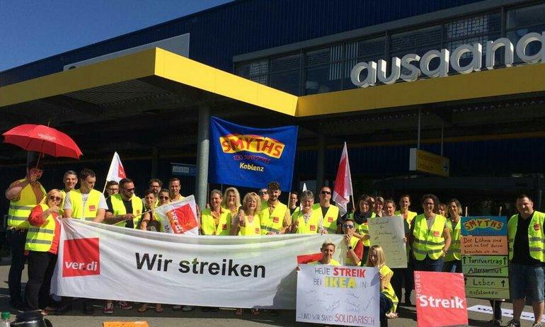 Die Streikenden von IKEA in Koblenz (27.06.2019)