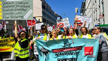 Douglas Streikende in München 2019