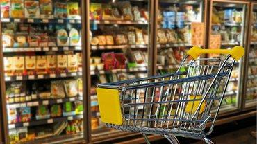Einzelhandel Discounter Supermarkt Lebensmittel Handel Einkaufswagen