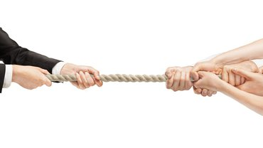 Tauziehen Verhandlung zäh Ringen