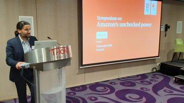 Orhan Akman auf dem Amazon Symposium Brüssel