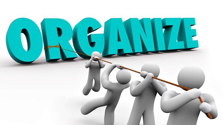 Organize Gemeinsam stark Gewerkschaft Mitglied werden Illustration