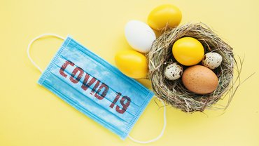 Corona Virus Maske Schutz Covid-19 Ostern