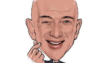Amazon Bezos Karikatur Satire Comic Illustration