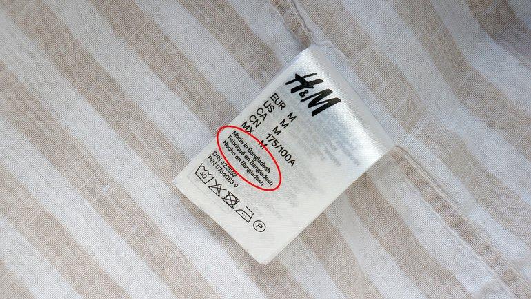 H&M Hennes und Mauritz Bangladesch Textilindustrie Näherin Label