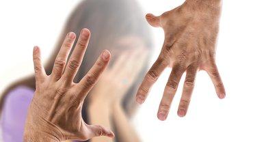 Gewalt Hand Mann Frau Angst