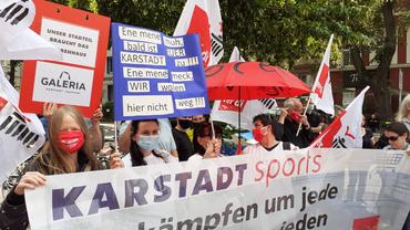 Demonstration Galeria Karstadt Kaufhof Berlin-Tempelhof (3. Juli 2020)
