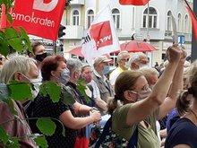 Protestaktion bei Galeria Karstadt Kaufhof Berlin-Tempelhof (3. Juli 2020)