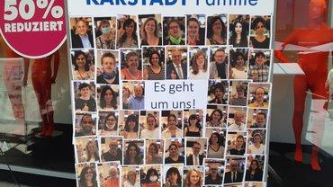 Protestkundgebung bei Galeria Karstadt Kaufhof in Frankfurt-Zeil (29. Juni 2020)