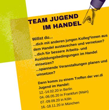 Flyer Plakat Team Jugend im Handel 2020