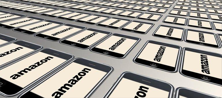 Amazon auf einem Smartphone